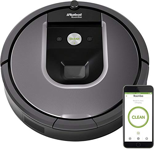 iRobot Roomba 960 Robot Vacuum- Wi-Fi Connected Mapping, Compatible with Alexa, Ideal for Pet Hair, Carpets, Hard Floors,Black (+2 AeroForce High-Efficiency Filters)