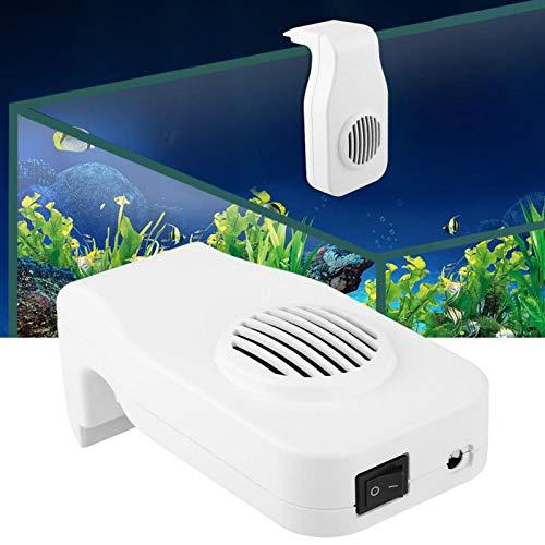 SALUTUYA (Negro/Blanco) Ventilador de refrigeración para acuarios para Tanques de Peces Refrigeración para acuarios(White Adjustable)
