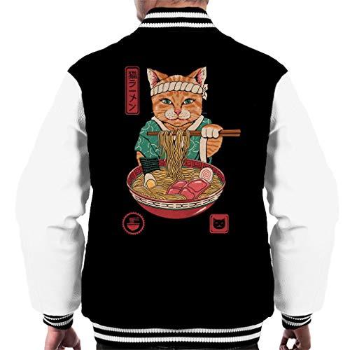 Cloud City 7 Japanese Maneki Neko Lucky Charm Ramen Cat Ramen Men's Varsity Jacket