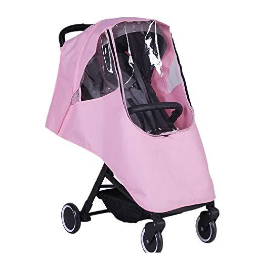 LJPzhp-Baby Poussette Protection Pluie Bébé Trolley Universal Rain Cover Landau Coupe-Vent Anti-poussière Rain Cover bébé Pare-Brise Universel (Couleur : Rose, Taille : Taille Unique)