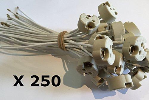 250Stück Fassungen für Lampen GU5.3/MR16Für Halogenlampen und LED 12V