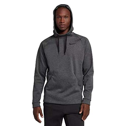Nike Men's Training Hoodie Charcoal Heather/Black, Medium