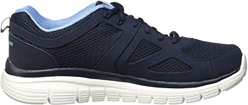 Skechers Sneaker in Übergrößen Blau 52635 NVY große Herrenschuhe, Größe:46