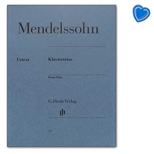 Klaviertrios op.49 und op.66 für Violine, Violoncello und Klavier - Mendelssohn Bartholdy Felix - Urtextausgabe mit bunter herzförmiger Notenklammer