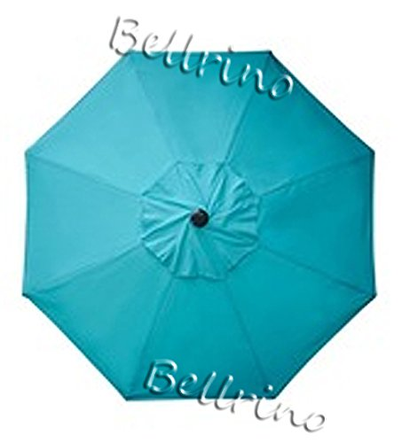 BELLRINO DECOR Replacement Lake Blue Strong & Thick Umbrella Canopy for 10ft 8 Ribs (Canopy Only)