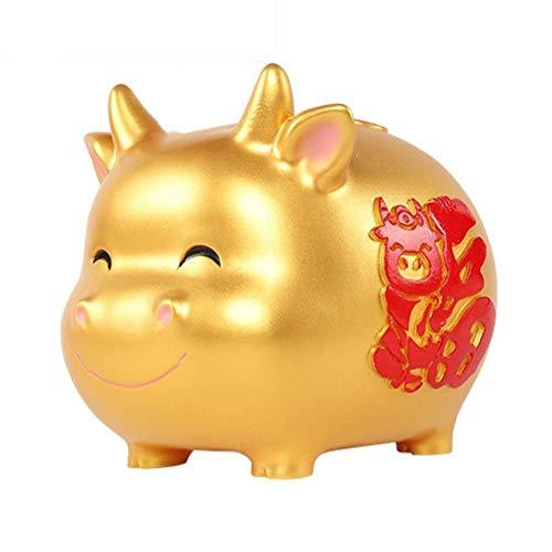 ZAKRLYB Tauro Piggy Bank, anti-caída, vinilo duradero, almacenamiento de monedas para adultos y niños, gran capacidad, adecuado para estanterías de escritorio, gabinetes de TV, regalos de decoración d