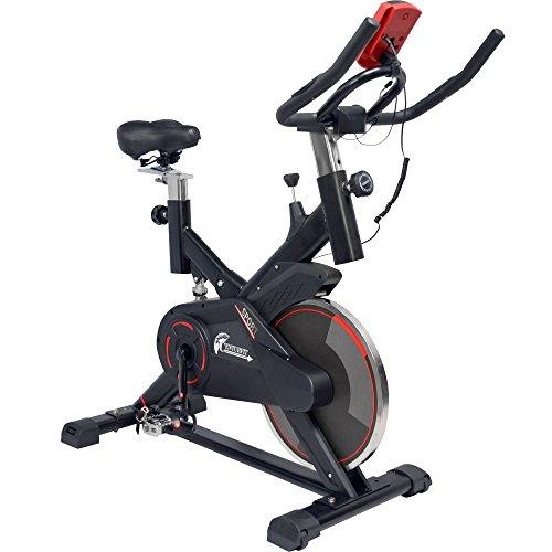 CENTURFIT Bicicleta Fija Estatica Spinning Fitness Cardio Ciclismo Interior Entrenamiento Cardiovascular Indor Gimnacio Gym Excelente Calidad Disco Rueda de 13 Kg Ejercicio Casa Oficina