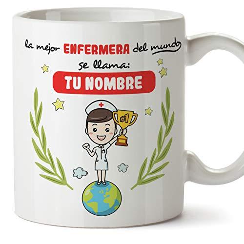 MUGFFINS Enfermera Tazas Originales Personalizadas con tu Nombre de café y Desayuno...