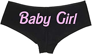 Knaughty Knickers Daddy's Baby Girl Black Boyshort with Pink Logo