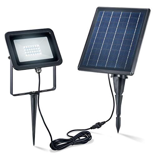 Solaire Premium Luminaire Avec 28 Leds - Ultra Large 5 W Module - Couleur de la Lumière Blanc Chaud 6000K - Lichtstrom 160 Lm - Mur Ou Bondenmontage - Lampe Spot Projecteur Jardin Esotec 102702