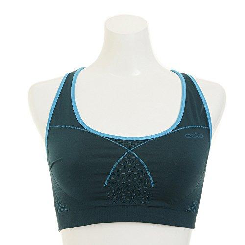 Odlo Soutien-Gorge de Sport sans Couture pour Femme XL Ponderosa Pine/Algiers Blue