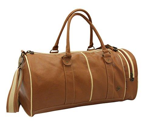 Dunlop Retro Sports Gym Shoulder Holdall Bag (Tan)