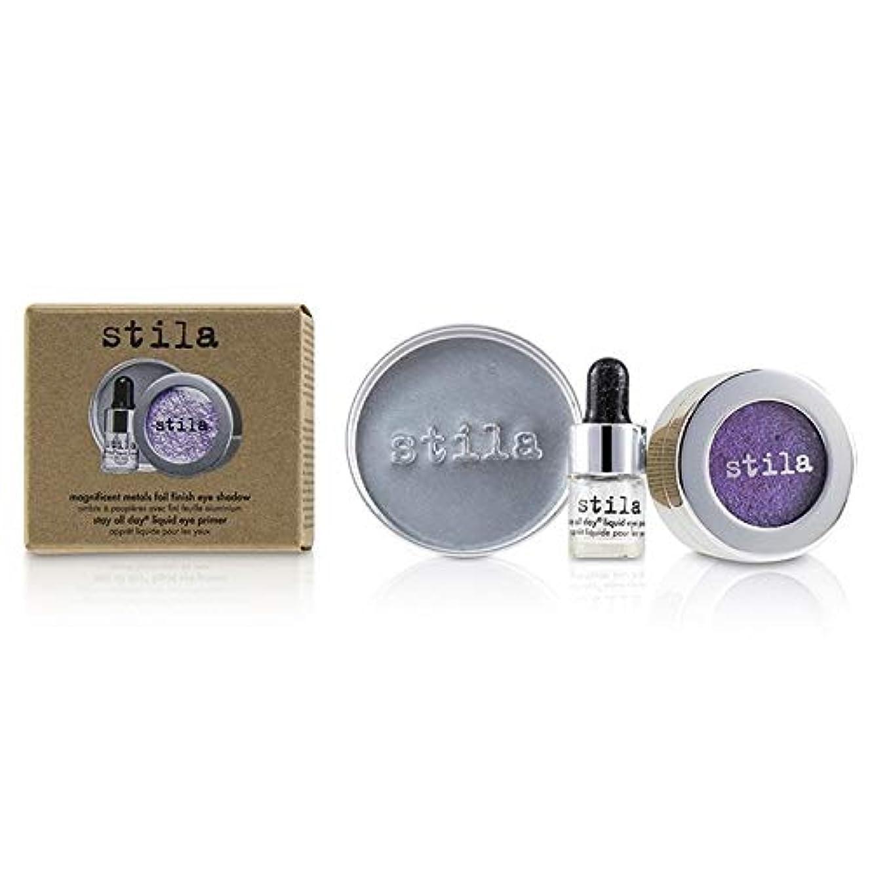 郵便屋さん気晴らし砂のスティラ マグニフィセントメタルホイルフィニッシュアイシャドウWithミニステイオールデイリキッドアイプライマー # Metallic Violet