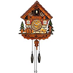 Kintrot Cuckoo Clock Handcrafted Traditional Black Forest Wood Clock Wall Decor