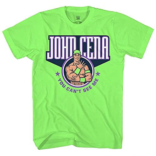 WWE Champion John Cena Shirt - Hustle Loyalty Respect - World Wrestling Champion T-Shirt (Neon Green, XX-Large)