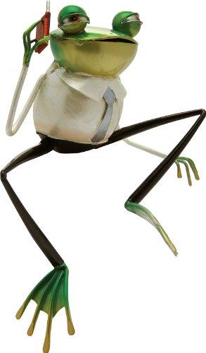 CERTRE Grenouille métal avec téléphone Portable cm.18 (Hot Mobile Frog)