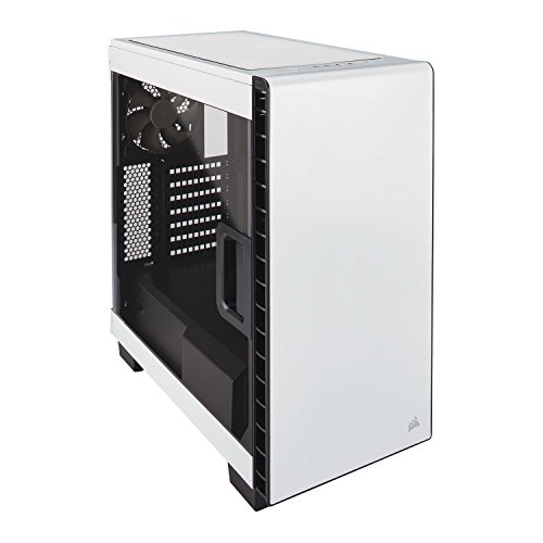 Corsair Carbide 400C - Caja de PC, Mid-Tower ATX, Ventana Lateral, Blanco