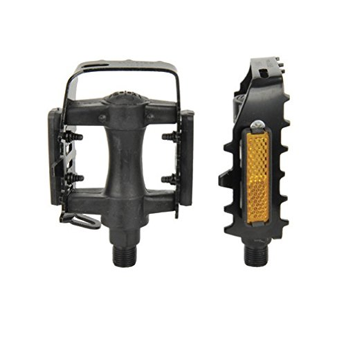 FISCHER Fahrradpedale MTB aus Alu, Pedale MTB, Mountainbike, Reflektoren