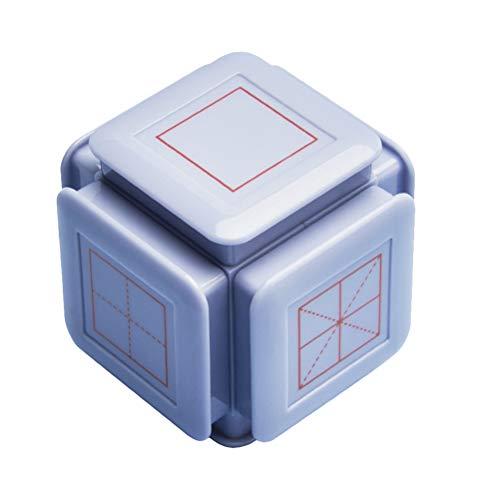 Sello de estudiantes de escuela primaria, sello de corrección Pinyin para niños, sello de enseñanza M del maestro (sello de enseñanza de Hexaedro Teaching Seal-Atenas Azul)