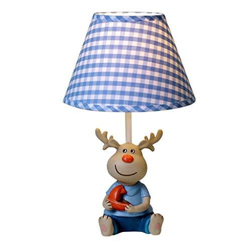 Lampe De Table Pour Enfants Lampe De Table Pour Enfants En Forme De Dessin Animé Lampe De Table À LED Pour Chevet D'une Chambre À Coucher A+ (Color : Blue-25x42cm)