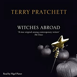 Witches Abroad                   By:                                                                                                                                 Terry Pratchett                               Narrated by:                                                                                                                                 Nigel Planer                      Length: 8 hrs and 23 mins     1,423 ratings     Overall 4.7