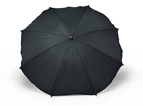 Sombrilla y paraguas universal para carros y sillas de bebé, con soporte universal, protección contra rayos UV 50+ negro Negro