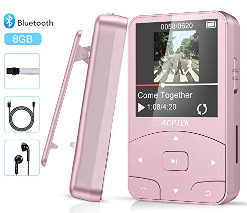 AGPTEK Reproductor MP3 Bluetooth Running, A58 HiFi Reproduct