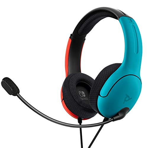 PDP - Auricular Stereo Gaming LVL40 Con Cable, Azul / Rojo (Nintendo Switch)