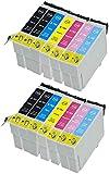Teland - Juego de 12 cartuchos de tinta compatibles con Epson Stylus Photo 1400 y 1500 W (sustituye a T0791, T0792, T0793, T0794, T0795, T0796) Premium