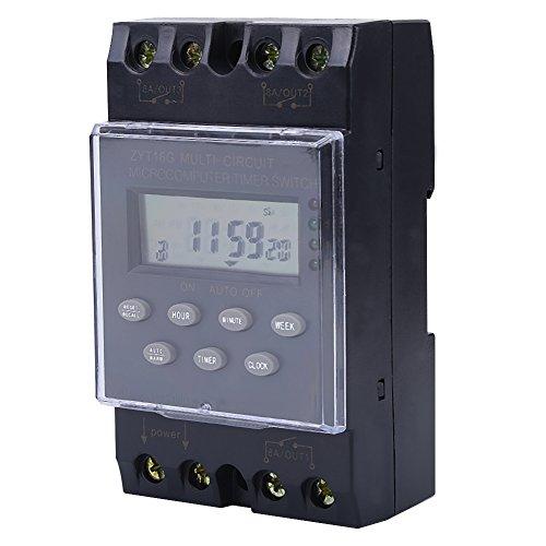 Zeitschaltuhr EIN / Aus-Relaismodul, Mehrkanal-Programmierbarer Mikrocomputer-Zeitschaltuhr, ZYT16G KG316T-3a AC220V Zeitschaltuhr