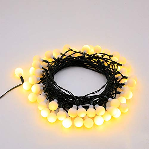 SWCEN Globe String Lights Solar Energy Powered 11M/36Ft 60 LED Outdoor Fairy Lights Multi-Color 8 Modes Waterproof with Remote Control for Party Living Room Bedroom Patio Garden,Yellow