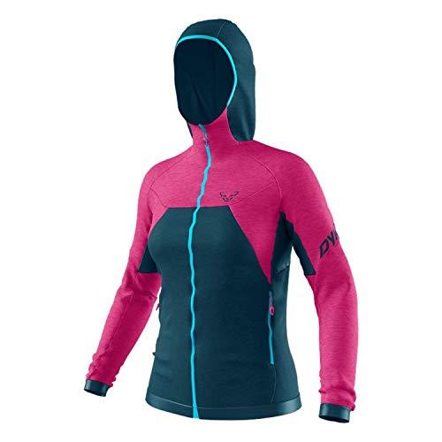 DYNAFIT W Tour Wool Thermal Hoody Blau-Pink, Damen Winterjacke, Größe M - Farbe Flamingo