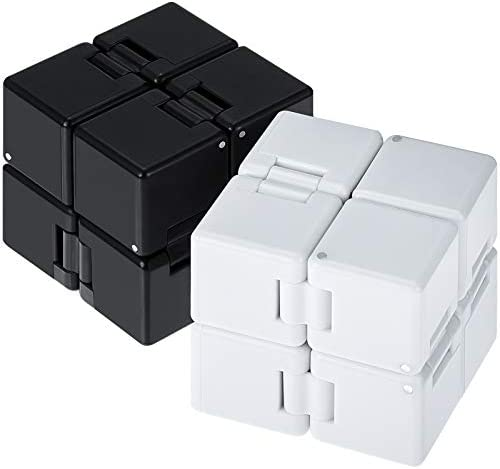 Gejoy 2 Packs Infinity Cube Fidget Toys Fidget Blocks Mini Infinity Cube Desk Toy Stress Relief product image