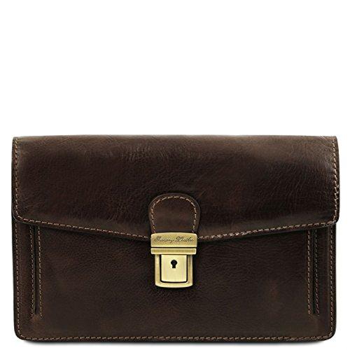 Tuscany Leather Tommy - Esclusivo borsello a mano in pelle - TL141442 (Testa di Moro)
