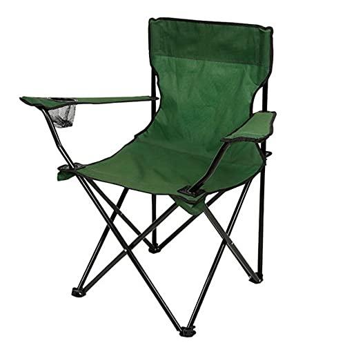DFGH Silla de Camping Plegable al Aire Libre, Ligera, portátil, Plegable, con Bolsa de Transporte y portavasos,Ideal para Jardín, Playa, Pesca, Camping, Viajes, Senderismo