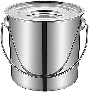 Pot De Stockage / Seau À Soupe, 25/30 / 35cm, Commercial, Seau À Soupe En Acier Inoxydable 201, Avec Couvercle, Seau De St...