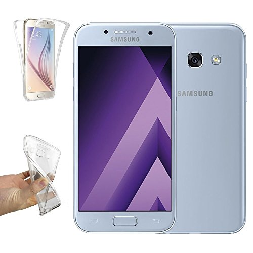 REY Funda Carcasa Gel Transparente Doble 360º para Samsung Galaxy A5 2017,...