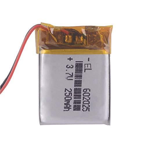 Dilezhiwanjuwu Células batería Recargable de 3.7V 250mAh 602025 LITION Polymer LI Ion Recargable para MP3 MP4 MP5 GPS Bluetooth móvil