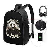 Wildern Zaino USB Carry On Bags Zaino per laptop da 17 pollici per scuola di viaggio Busin