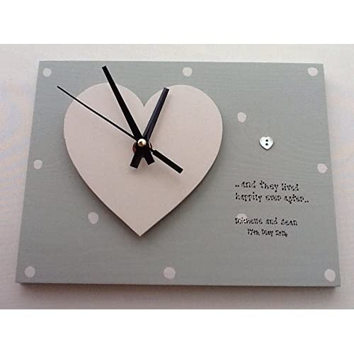 Shabby Chic Style Personalised Gift Clock Special Wedding Gift