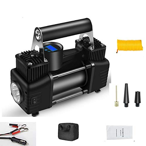 WNN-URG Compresor de aire portátil de doble cilindro neumático del aire con bomba de acuerdo 12V linterna LED for Neumáticos for trabajo pesado metal bomba del neumático SUV Off-Road remolque de camió