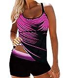Tankinis Mujer Traje de Baño Bikini Conjuntos de Dos Piezas Swimsuit Mujeres Tank Top Deportivo Push up Playa Beachwear