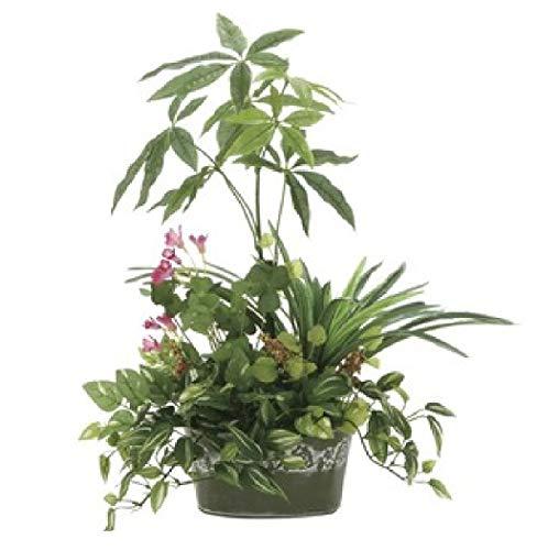 日用品 インテリア 家具 光の楽園【光触媒/人工観葉植物】寄せ植えパキラ