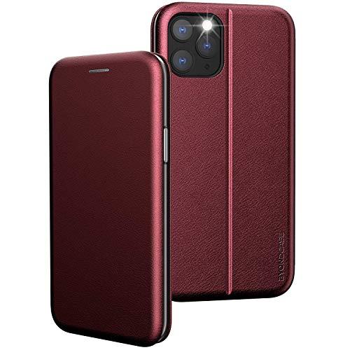 BYONDCASE iPhone 11 Pro Klapphülle Rot [iPhone 11 Pro PU-Leder Flip-Hülle] iPhone 11 Pro Hülle, 360 Grad Fullbody R&umschutz Handytasche kompatibel mit dem iPhone 11 Pro