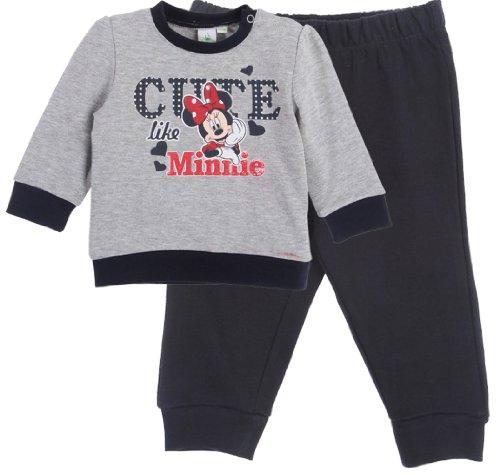 Jogging bébé fille imprimé Cute like Minnie Gris/marine 12mois