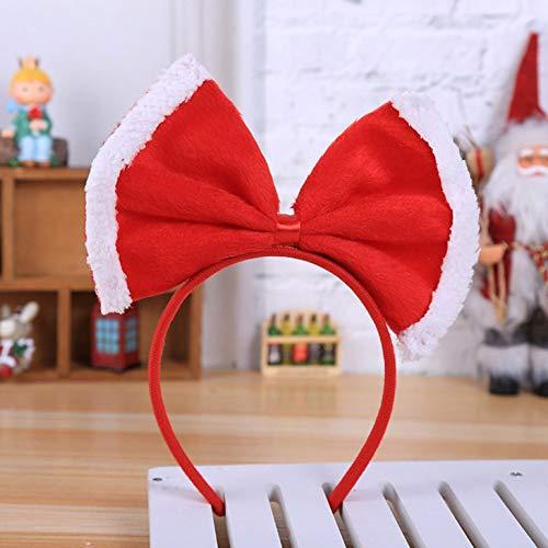 CING Beste Kwaliteit Volwassen Kinderen Kerstmis Kerstmis Xmas Nieuwigheid Strik Hoofdband Kerst Kostuum Accessoires Flannelette boog hoofdband