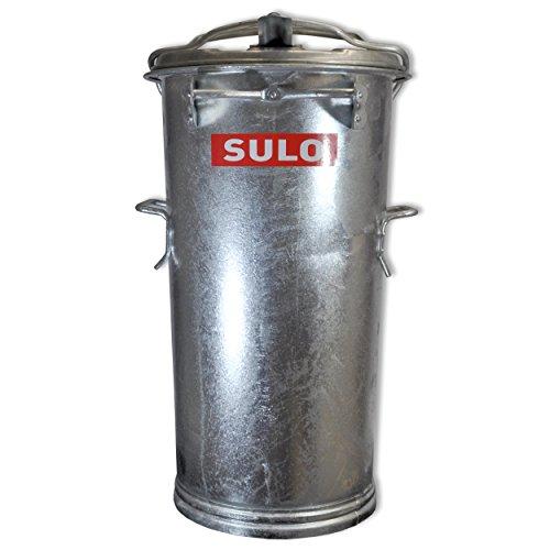 Mülltonne Stahl verzinkt SULO SME Retrodesign Abfalltonne Mülleimer NEUWARE (22320 - SULO SME 50 Stahlblech)