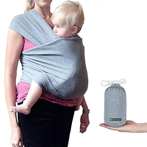 weich und bequem dehnbar Babywickel f/ür Kleinkinder bis 20 kg Grau Elastisches Babytragetuch ASAND-H Sling Ideal f/ür Sommer//Strand tragetuch f/ür baby