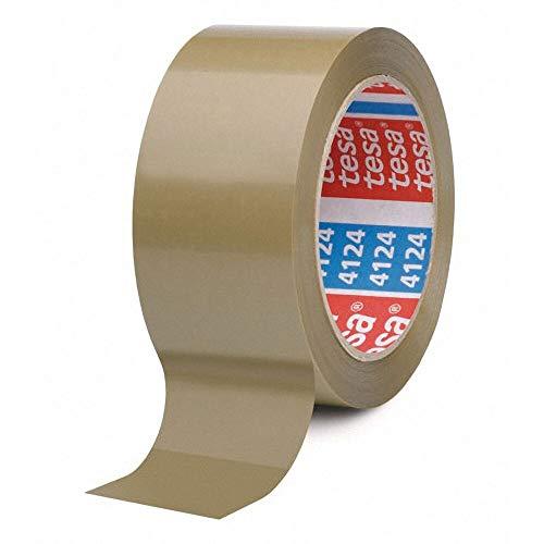 TESA Klebeband tesapack 4124, TOP-PVC, 50mm x 66m, braun/Unser Bestes - PVC-Klebeband für höchste Ansprüche, 6 Stück