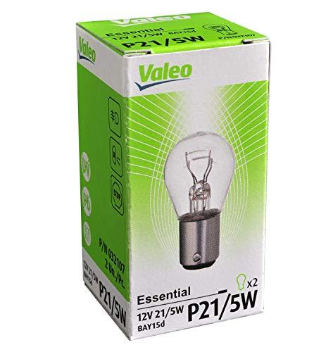 Valeo Lámpara halógena, P21/5W-Essential-Cartón x2, 32107